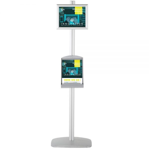 free-standing-stand-in-silver-color-with-1-x-8.5x11-frame-in-portrait-and-landscape-and-1-x-8.5x11-steel-shelf-single-sided-4