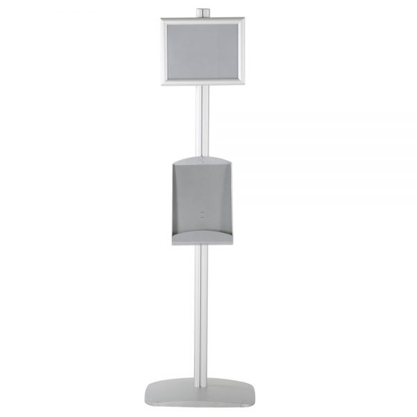 free-standing-stand-in-silver-color-with-1-x-8.5x11-frame-in-portrait-and-landscape-and-1-x-8.5x11-steel-shelf-single-sided-5