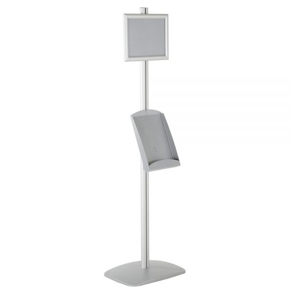 free-standing-stand-in-silver-color-with-1-x-8.5x11-frame-in-portrait-and-landscape-and-1-x-8.5x11-steel-shelf-single-sided-6