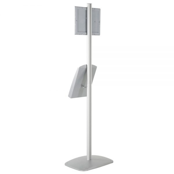 free-standing-stand-in-silver-color-with-1-x-8.5x11-frame-in-portrait-and-landscape-and-1-x-8.5x11-steel-shelf-single-sided-7