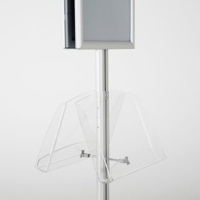 free-standing-stand-in-silver-color-with-2-x-11X17-frame-in-portrait-and-landscape-and-2-2-x-8.5x11-clear-shelf-in-acrylic-double-sided-12