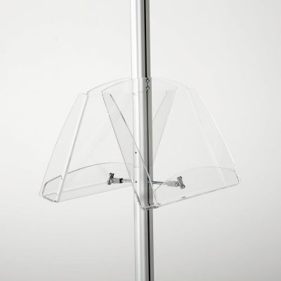 free-standing-stand-in-silver-color-with-2-x-11X17-frame-in-portrait-and-landscape-and-2-2-x-8.5x11-clear-shelf-in-acrylic-double-sided-9