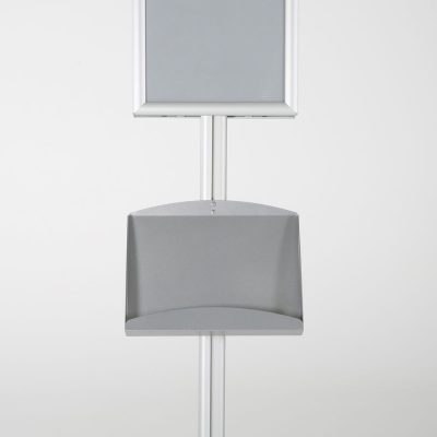 free-standing-stand-in-silver-color-with-2-x-11X17-frame-in-portrait-and-landscape-and-2-x-5.58.5-steel-shelf-double-sided-11