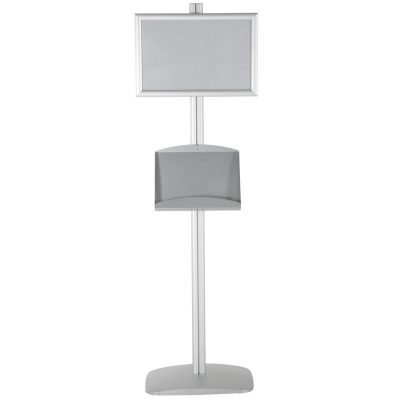 free-standing-stand-in-silver-color-with-2-x-11X17-frame-in-portrait-and-landscape-and-2-x-5.58.5-steel-shelf-double-sided-12