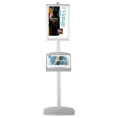 free-standing-stand-in-silver-color-with-2-x-11X17-frame-in-portrait-and-landscape-and-2-x-5.58.5-steel-shelf-double-sided-4