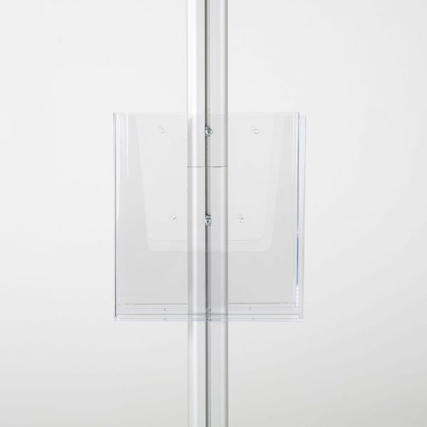 free-standing-stand-in-silver-color-with-2-x-11X17-frame-in-portrait-and-landscape-and-2-x-8.5x11-clear-pocket-shelf-double-sided-10