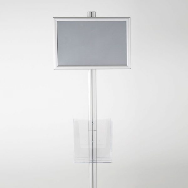 free-standing-stand-in-silver-color-with-2-x-11X17-frame-in-portrait-and-landscape-and-2-x-8.5x11-clear-pocket-shelf-double-sided-11