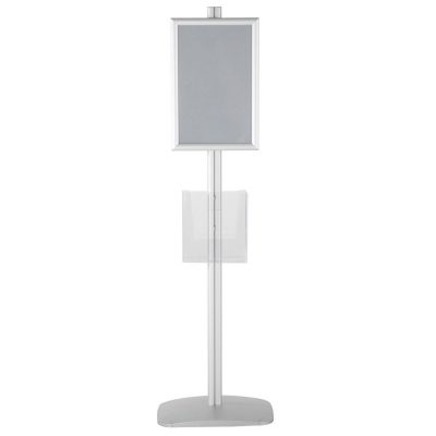 free-standing-stand-in-silver-color-with-2-x-11X17-frame-in-portrait-and-landscape-and-2-x-8.5x11-clear-pocket-shelf-double-sided-12