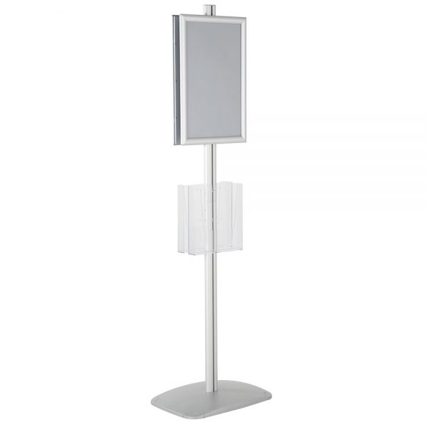 free-standing-stand-in-silver-color-with-2-x-11X17-frame-in-portrait-and-landscape-and-2-x-8.5x11-clear-pocket-shelf-double-sided-13