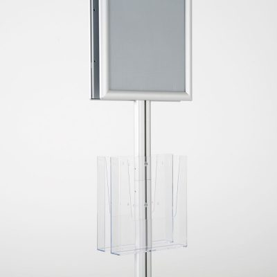 free-standing-stand-in-silver-color-with-2-x-11X17-frame-in-portrait-and-landscape-and-2-x-8.5x11-clear-pocket-shelf-double-sided-14