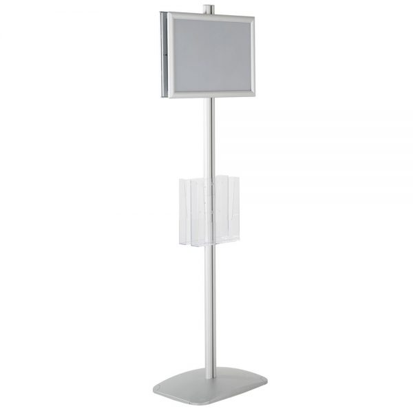 free-standing-stand-in-silver-color-with-2-x-11X17-frame-in-portrait-and-landscape-and-2-x-8.5x11-clear-pocket-shelf-double-sided-6