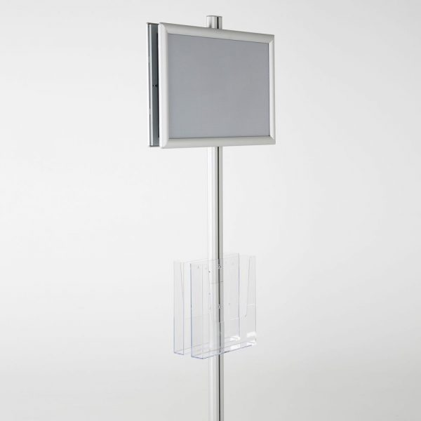 free-standing-stand-in-silver-color-with-2-x-11X17-frame-in-portrait-and-landscape-and-2-x-8.5x11-clear-pocket-shelf-double-sided-7