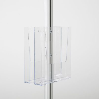 free-standing-stand-in-silver-color-with-2-x-11X17-frame-in-portrait-and-landscape-and-2-x-8.5x11-clear-pocket-shelf-double-sided-8