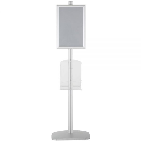 free-standing-stand-in-silver-color-with-2-x-11X17-frame-in-portrait-and-landscape-and-2-x-8.5x11-clear-shelf-in-acrylic-double-sided-12