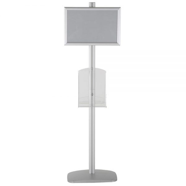 free-standing-stand-in-silver-color-with-2-x-11X17-frame-in-portrait-and-landscape-and-2-x-8.5x11-clear-shelf-in-acrylic-double-sided-5