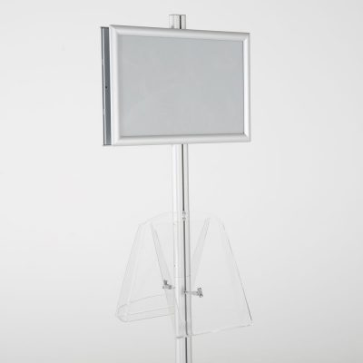 free-standing-stand-in-silver-color-with-2-x-11X17-frame-in-portrait-and-landscape-and-2-x-8.5x11-clear-shelf-in-acrylic-double-sided-7