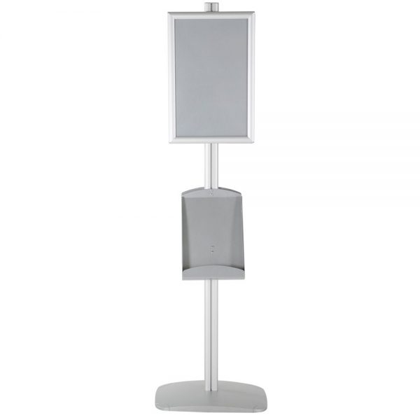 free-standing-stand-in-silver-color-with-2-x-11X17-frame-in-portrait-and-landscape-and-2-x-8.5x11-steel-shelf-double-sided-10