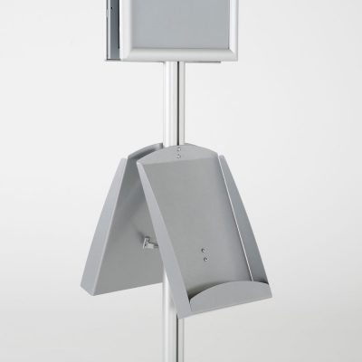 free-standing-stand-in-silver-color-with-2-x-11X17-frame-in-portrait-and-landscape-and-2-x-8.5x11-steel-shelf-double-sided-12