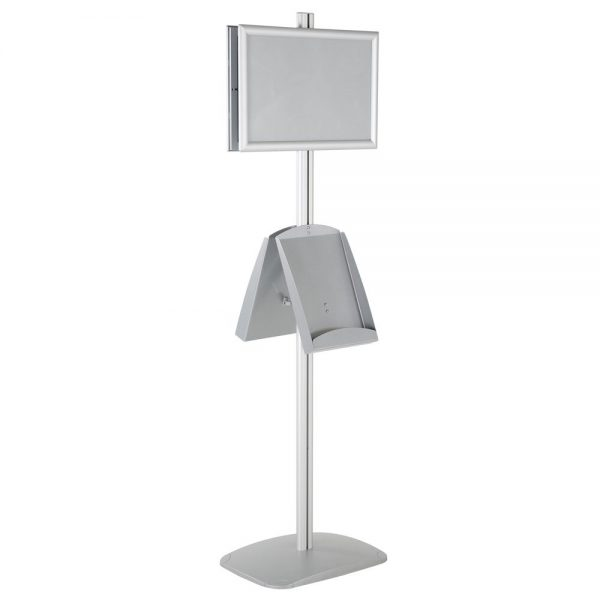 free-standing-stand-in-silver-color-with-2-x-11X17-frame-in-portrait-and-landscape-and-2-x-8.5x11-steel-shelf-double-sided-6