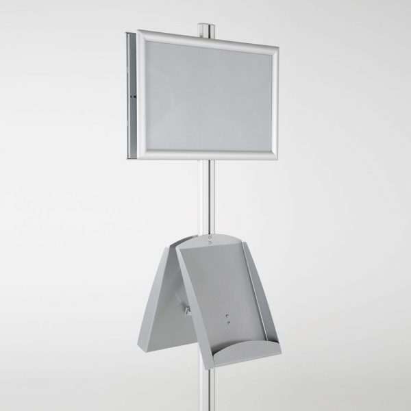free-standing-stand-in-silver-color-with-2-x-11X17-frame-in-portrait-and-landscape-and-2-x-8.5x11-steel-shelf-double-sided-7