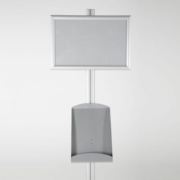 free-standing-stand-in-silver-color-with-2-x-11X17-frame-in-portrait-and-landscape-and-2-x-8.5x11-steel-shelf-double-sided-9