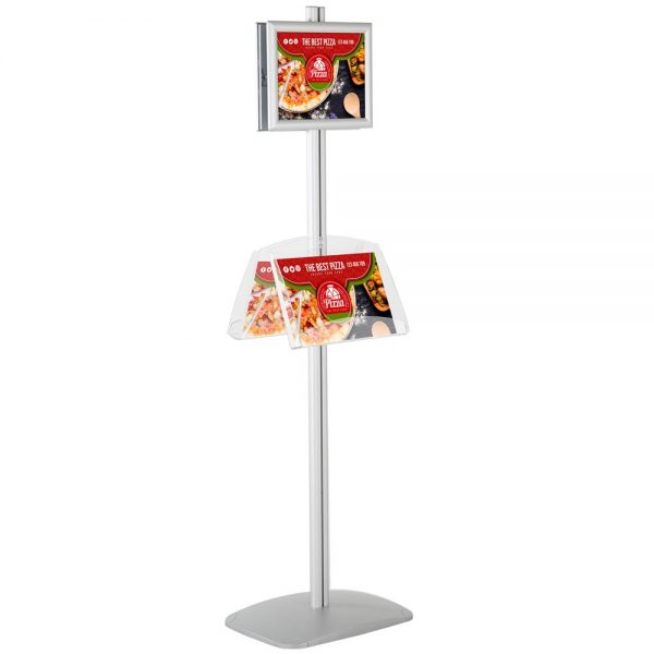 free-standing-stand-in-silver-color-with-2-x-8.5x11-frame-in-portrait-and-landscape-and-2-2-x-8.5x11-clear-shelf-in-acrylic-double-sided-4