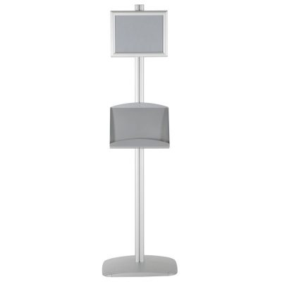 free-standing-stand-in-silver-color-with-2-x-8.5x11-frame-in-portrait-and-landscape-and-2-x-5.5x8.5-steel-shelf-double-sided-10