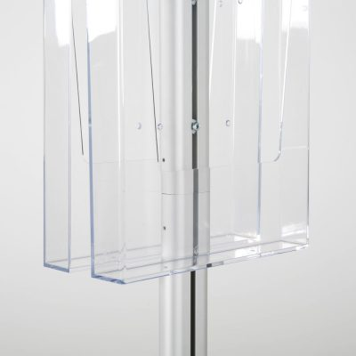 free-standing-stand-in-silver-color-with-2-x-8.5x11-frame-in-portrait-and-landscape-and-2-x-8.5x11-clear-pocket-shelf-double-sided-10