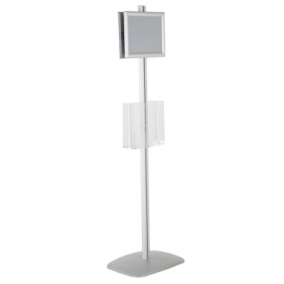 free-standing-stand-in-silver-color-with-2-x-8.5x11-frame-in-portrait-and-landscape-and-2-x-8.5x11-clear-pocket-shelf-double-sided-11