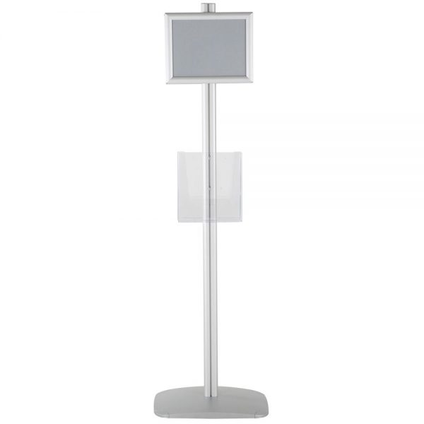 free-standing-stand-in-silver-color-with-2-x-8.5x11-frame-in-portrait-and-landscape-and-2-x-8.5x11-clear-pocket-shelf-double-sided-12
