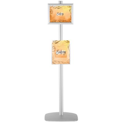 With 2 x (8.5x11) Frame In Portrait And Landscape And 2 x (8.5x11) Clear Pocket Shelf