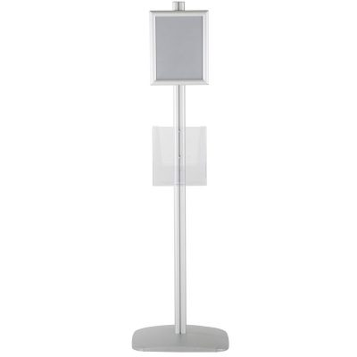 free-standing-stand-in-silver-color-with-2-x-8.5x11-frame-in-portrait-and-landscape-and-2-x-8.5x11-clear-pocket-shelf-double-sided-6