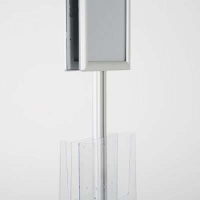 free-standing-stand-in-silver-color-with-2-x-8.5x11-frame-in-portrait-and-landscape-and-2-x-8.5x11-clear-pocket-shelf-double-sided-8