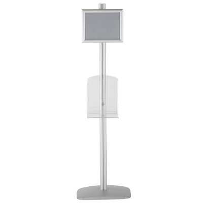 free-standing-stand-in-silver-color-with-2-x-8.5x11-frame-in-portrait-and-landscape-and-2-x-8.5x11-clear-shelf-in-acrylic-double-sided-11