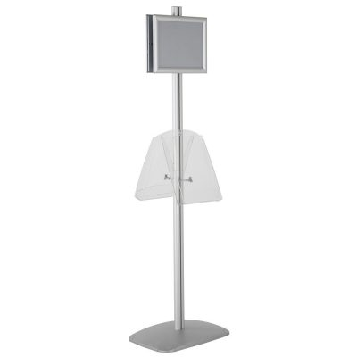 free-standing-stand-in-silver-color-with-2-x-8.5x11-frame-in-portrait-and-landscape-and-2-x-8.5x11-clear-shelf-in-acrylic-double-sided-12