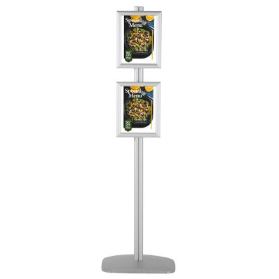 free-standing-stand-in-silver-color-with-2-x-8.5x11-frame-in-portrait-and-landscape-position-single-sided-4