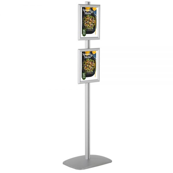 free-standing-stand-in-silver-color-with-2-x-8.5x11-frame-in-portrait-and-landscape-position-single-sided-5