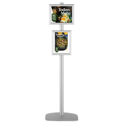 free-standing-stand-in-silver-color-with-2-x-8.5x11-frame-in-portrait-and-landscape-position-single-sided-6