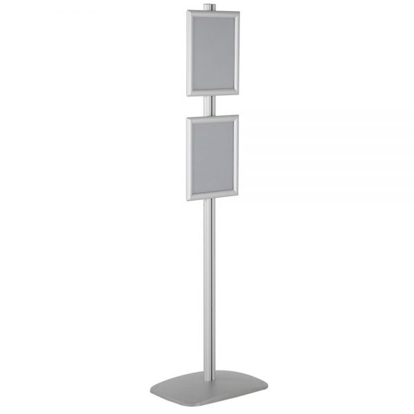 free-standing-stand-in-silver-color-with-2-x-8.5x11-frame-in-portrait-and-landscape-position-single-sided-8