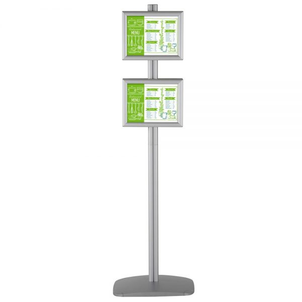 free-standing-stand-in-silver-color-with-4-x-8.5x11-frame-in-portrait-and-landscape-position-double-sided-4