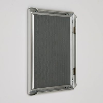 8.5x11 Snap Poster Frame - 1 inch Chrome Look Profile Mitered Corner