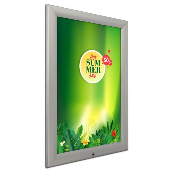 20x30-lockable-weatherproof-snap-poster-frame-1-38-inch-silver-mitred-profile-1