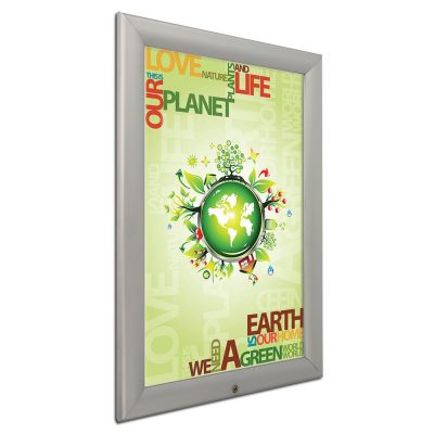 22x28-lockable-weatherproof-snap-poster-frame-1-38-inch-silver-mitred-profile