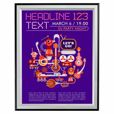 30x40-double-color-snap-poster-frame-1-58-inch-black-silver-mitred-profile