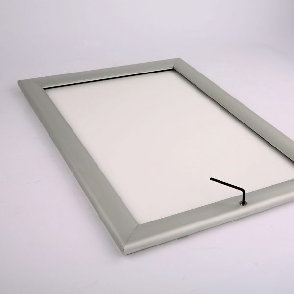 lockable-weatherproof-snap-poster-frame-1-38-inch-silver-mitred-profile-3