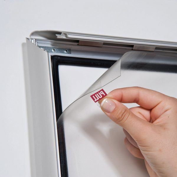 lockable-weatherproof-snap-poster-frame-1-38-inch-silver-mitred-profile-4