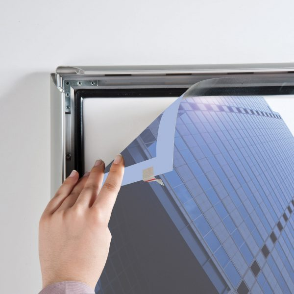 lockable-weatherproof-snap-poster-frame-1-38-inch-silver-mitred-profile-5