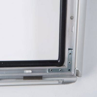 lockable-weatherproof-snap-poster-frame-1-38-inch-silver-mitred-profile-7