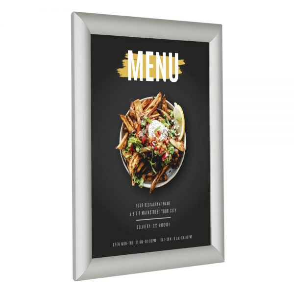 8-5x11-fire-resistant-snap-poster-frame-1-inch-silver-mitered-corner1