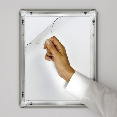 8-5x11-fire-resistant-snap-poster-frame-1-inch-silver-mitered-corner2